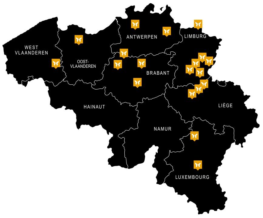 Vestigingen Itzu Home op een kaart